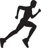 running silhouette för sund man Royaltyfria Foton
