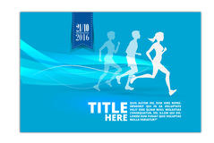 Running silhouette. Poster, Flyer, banner.abstract design Stock Images