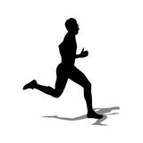 Running silhouettes Stock Images