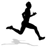 Running silhouettes. Stock Images