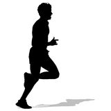 Running silhouettes. Vector illustration. Royalty Free Stock Photography