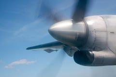 Running silver propeller Stock Image