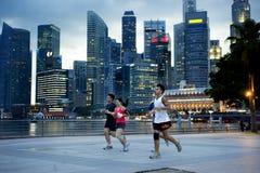 Running in Singapore Stock Photo