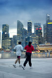 Running in Singapore Royalty Free Stock Photo