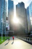 Running in Singapore Royalty Free Stock Images