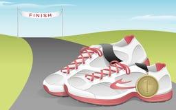Running skor vektor illustrationer