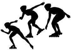 running skridskor för folk Arkivbild