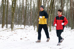 Running In The Snow 4 Stock Image