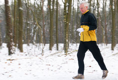 Running In The Snow 6 Stock Image