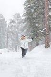 Running snow Stock Photos