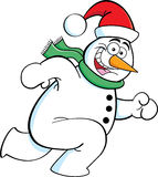 Running Snowman Stock Images