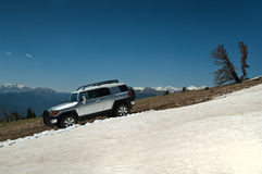 running snowtrail Fotografering för Bildbyråer