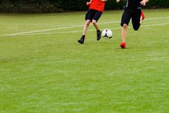 Running soccer Team Royalty Free Stock Images