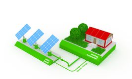 Running a solar generator Stock Images