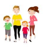 running son för familjfadermoder Arkivfoton