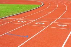 running spår Arkivbild