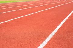 running spår Arkivfoto