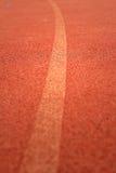 Running spår för idrottsman nenar Royaltyfri Foto