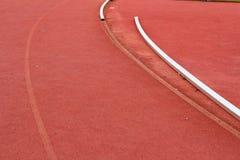 Running spår för idrottsman nenar Royaltyfria Foton
