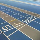 running spår för mållinje Arkivbilder