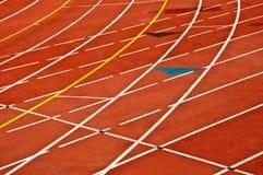 running spår för race Royaltyfri Bild