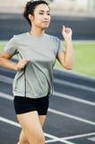 running spårkvinna Royaltyfria Foton