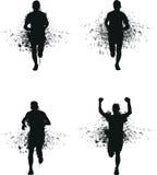 Running splash man stock illustration