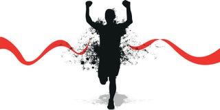 Running splash man Royalty Free Stock Images