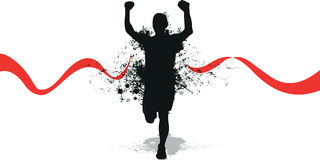 Running splash man. A running splash man background in black Royalty Free Stock Images