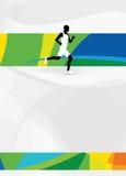 Running sport background Royalty Free Stock Photo