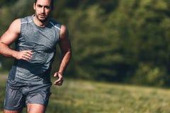 running sport för man royaltyfri foto