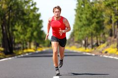 running sport för konditionman Arkivfoto