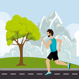 Running sport male Royalty Free Stock Photos