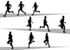 Running sport mans Royalty Free Stock Photography