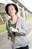 Running sport mature woman of Asian Royalty Free Stock Photo