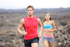 Running sport people running cross country trail royalty free stock photo