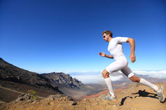 Running sport runner man royalty free stock photos