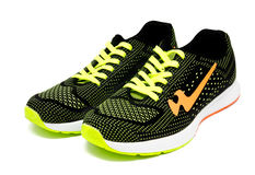 Running sport shoes isolated on a white Royalty Free Stock Photos