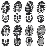 Running sport shoes vector footprint set Royalty Free Stock Photo