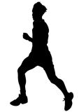 Running sports man ten Royalty Free Stock Image