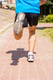 Running in sports shoes. Stock Photography