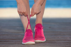 Running sports shoes or sneakers Royalty Free Stock Photo