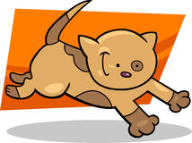 Running spotted kitten Royalty Free Stock Images