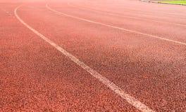 running spår för kurva Arkivbild