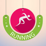 Running, Sprint, Marathon - Colourful Sports Icon Royalty Free Stock Photography