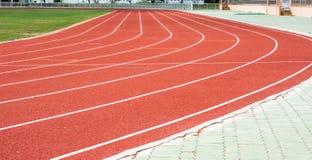 running stadionspår Royaltyfri Bild