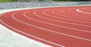 running stadionspår Arkivbild