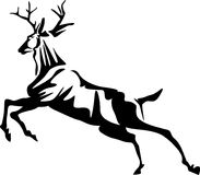 Running stag. Line art isolated abstract running stag stock illustration