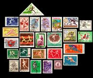 Running Stamps Series Stock Image