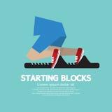 Running Starting Blocks. Vector Illustration royalty free illustration